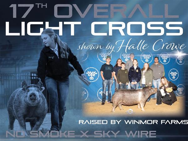 CONGRATULATIONS HALLE CROWE!!! AWESOME JOB AT OYE!!