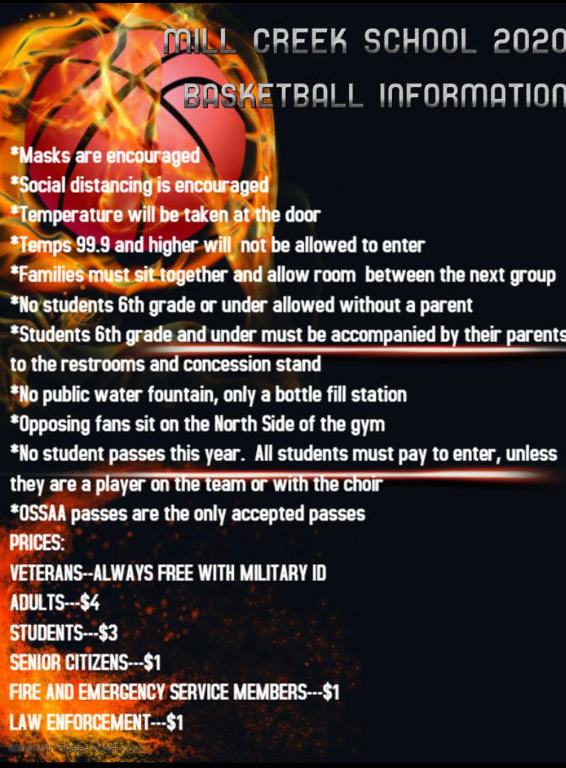2020 BASKETBALL INFORMATION FOR ATTENDING HOME GAMES